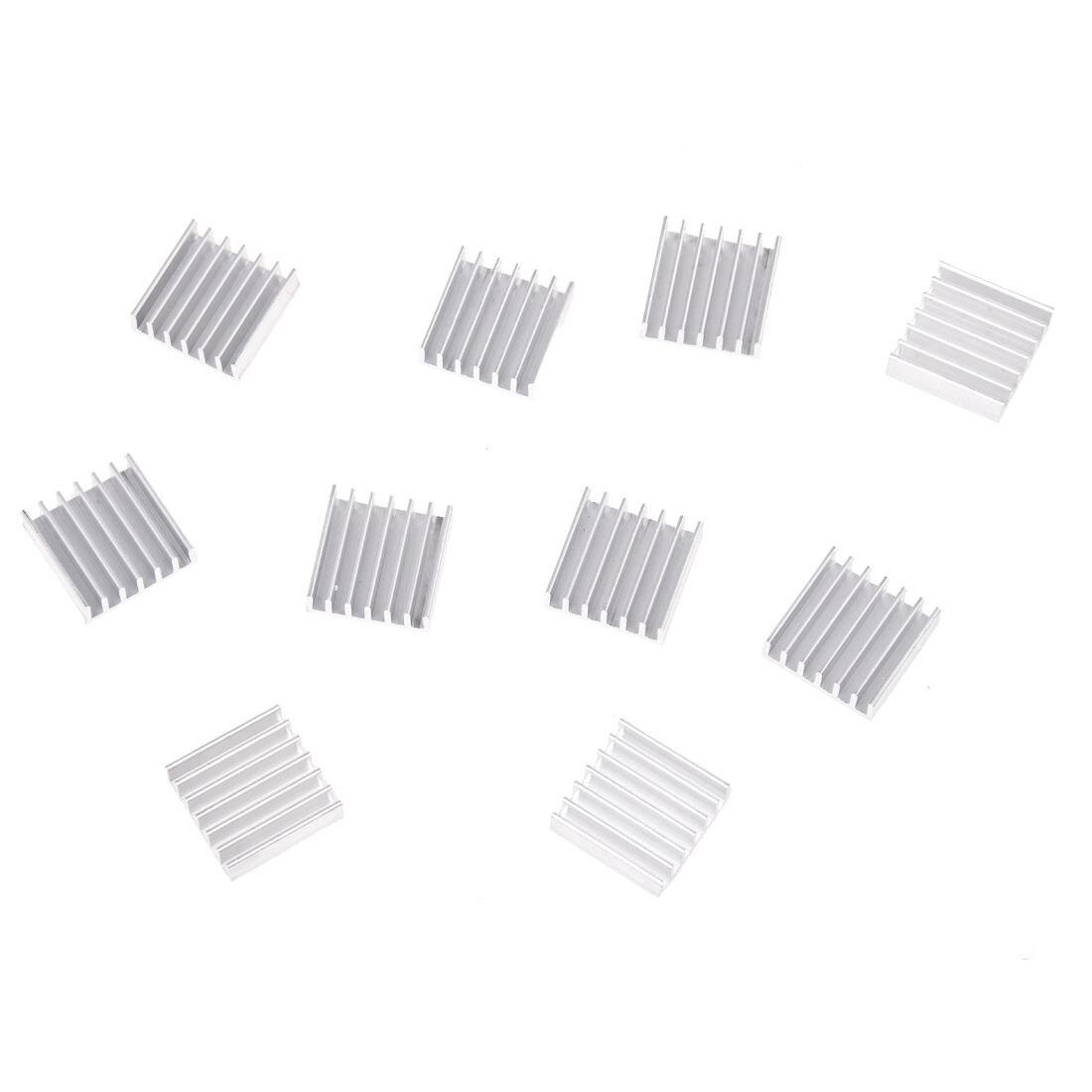 10 Pcs 20mm X 20mm X 6mm Aluminum Heatsink For Ic Mosfet