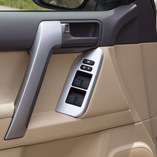 4 шт. для Toyota Land Cruiser Prado FJ150 150 2010-2018 двери окна переключатель Обложка интерьер подлокотник Панель планки автомобильный аксессуар LHD