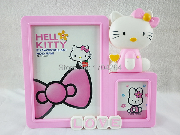 Cartoon design frame Hello kitty plastic photo frame Cute home decor ...