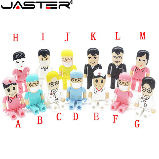 JASTER all styles Doctor Nurse models USB 2.0 Flash Memory Stick Pen Drive  8GB 16GB 32GB