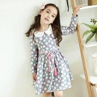 2017 Mignon Bébé Filles Princesse Parti Robe Rose Blanc Polka Dot mignon Élégant D'anniversaire Vêtements pour Enfants Age5678910 11 12 Ans