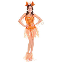 Umorden Halloween Costumes for Women Cute Goldfish Cosplay Gold Fish Costume Carnival Party Fantasia Dress