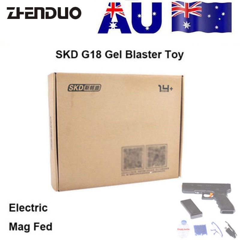 ZhenDuo Toys Black SKD G18 Gel Ball Blaster Water Bullet Mag-fed Outdoor Toy Automatic Gun For Child Gifts