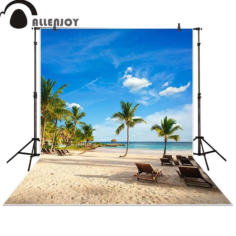 Allenjoy fotografía de fondo Tropical Rainforest playa sol verano - Cámara y foto