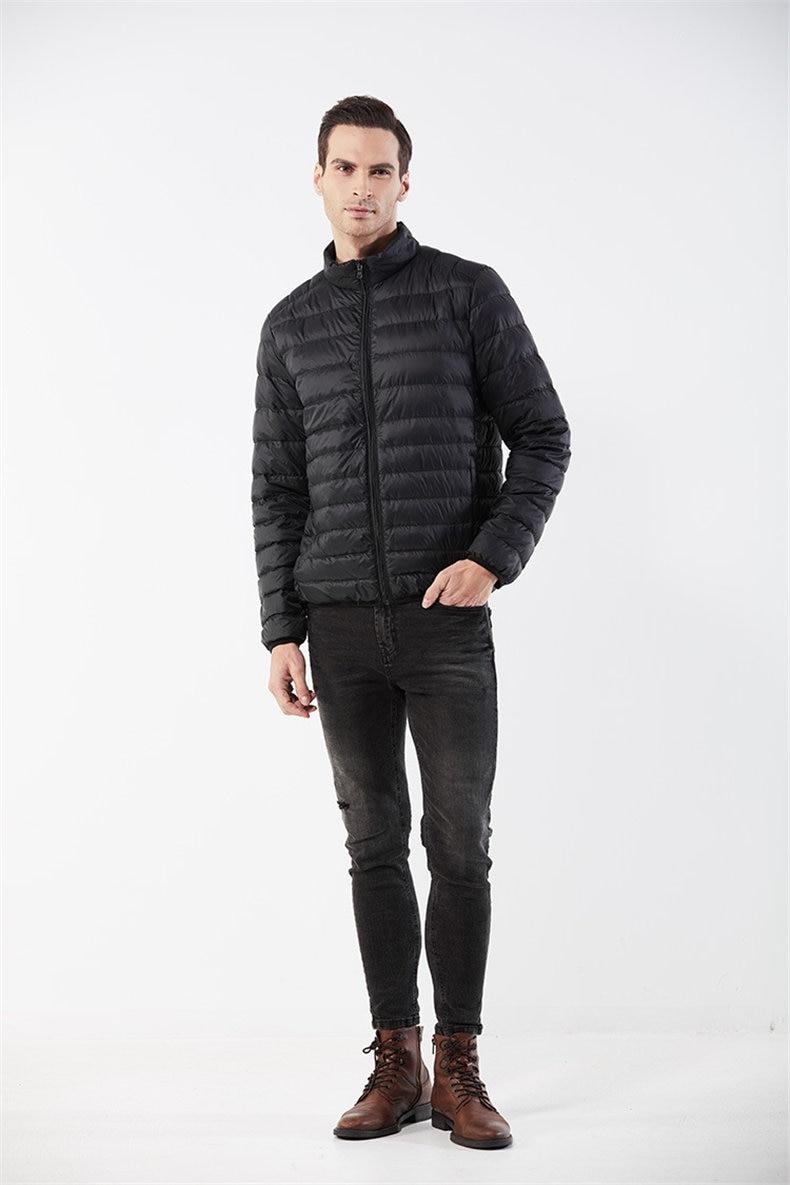 Customized White Duck Down Jacket Men Winter Ultralight Light Male Parka Coats Man Brand Clothing Water Resistant Outwear Autumn4