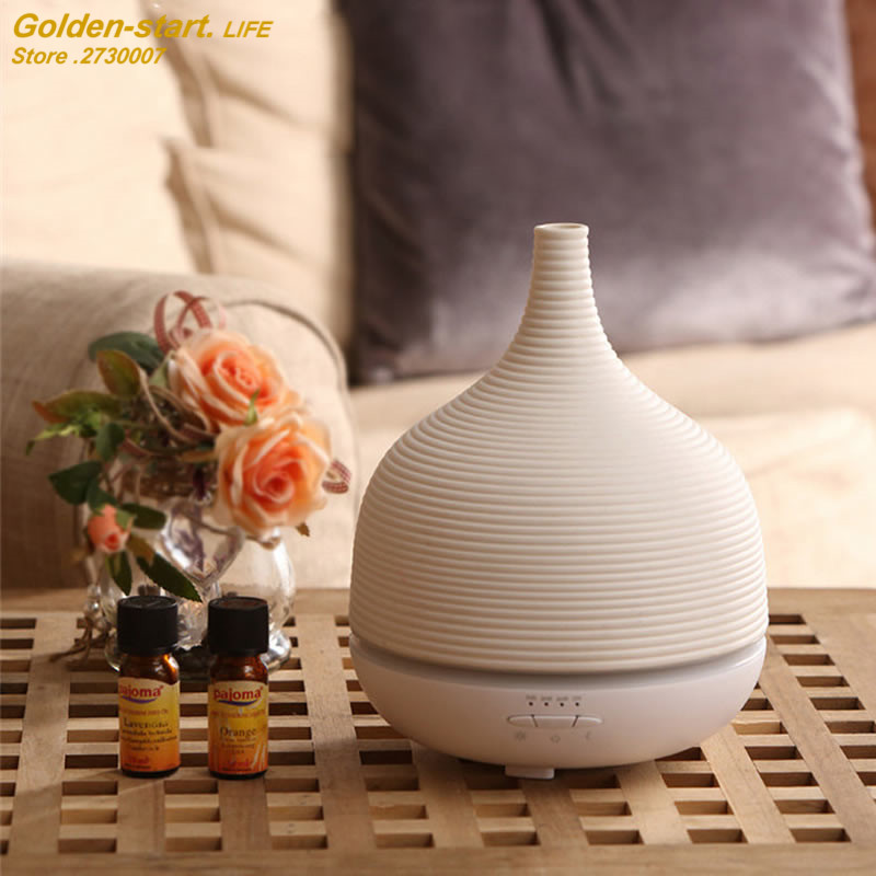 2017 New warm colorful light humidifier desktop aroma diffuser machine DC24V USB humidity controller room mist maker air cleaner