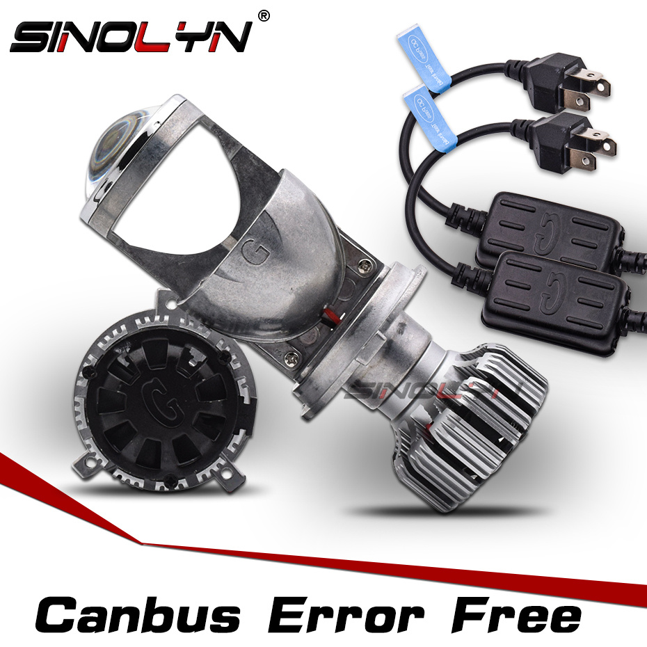 9003 H4 LED Mini H4 Bi LED Canbus EMC Decoder Projector Lenses Error Free 1.5'' 60W 5000K Bulbs For Cars Headlight Accessories