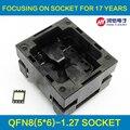 QFN8 MLF8 Queimar No Soquete Aberto Top Pin Pogo Teste IC Socket Pitch 1.27mm Tamanho Do Chip 5*6 Adaptador De Tomada De Programação Do Flash