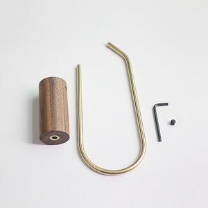 Image 4 - Nordic Bathroom Roll Holder Brass Solid Wood Wall Hanging Napkin Holder Gold Toilet Paper Towel Holder Kitchen storageshelf