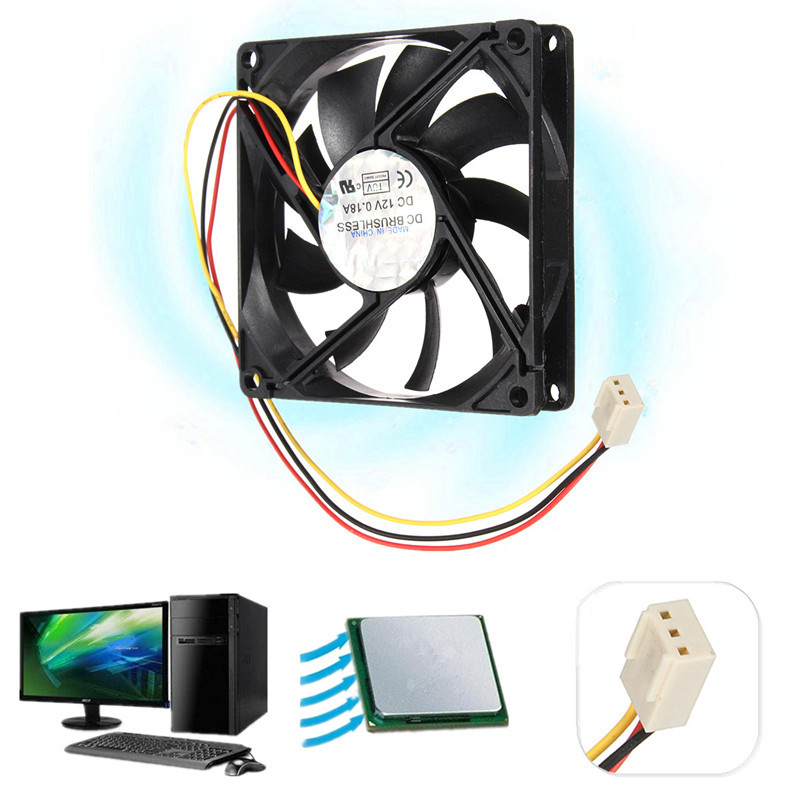 LEORY DC 12V 3 Wire Pin 80mm x 80mm x 15mm Cooling Cooler PC Computer Case CPU Fan Airflow 75mmx30mm dc 12v 0 24a 2 pin computer pc sleeve bearing blower cooling fan 7530 r179t drop shipping