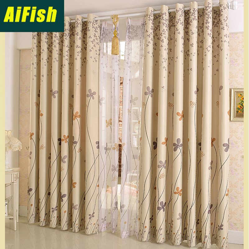 American Pastoral Blackout Curtains Sheer Tulle Elegant Living Room Bedroom Curtains Panel Curtain Set Finished Custom WP206&3