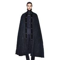 2018 Новое поступление Дьявол Мода готический пальто унисекс черный темно благородный Накидки Хэллоуин дворец вечерние накидка осень зима К