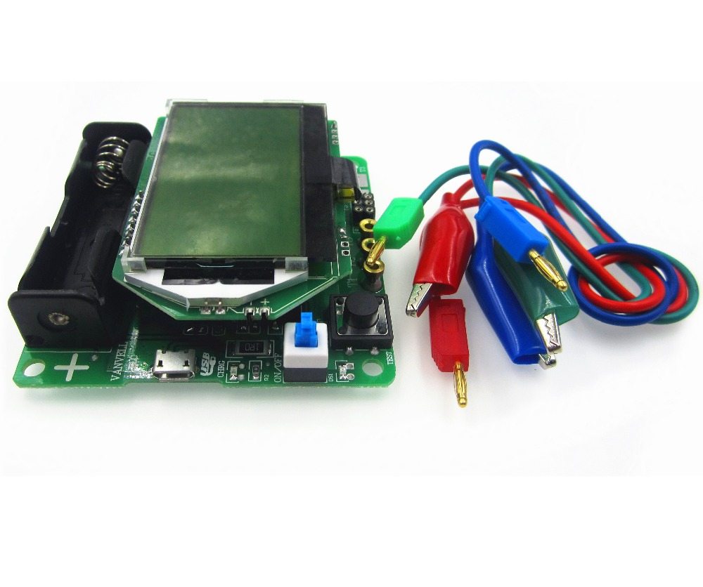 1 conjunto nova versão 3.7 v do indutor-capacitor esr medidor diy mg328 multifunções transistor tester