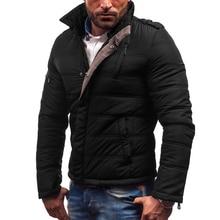 2019 Winter Men Jacket Casual Hot Sale High Quality Soild Color Mens Jackets Coats Thick Parka Male Outwear 5XL