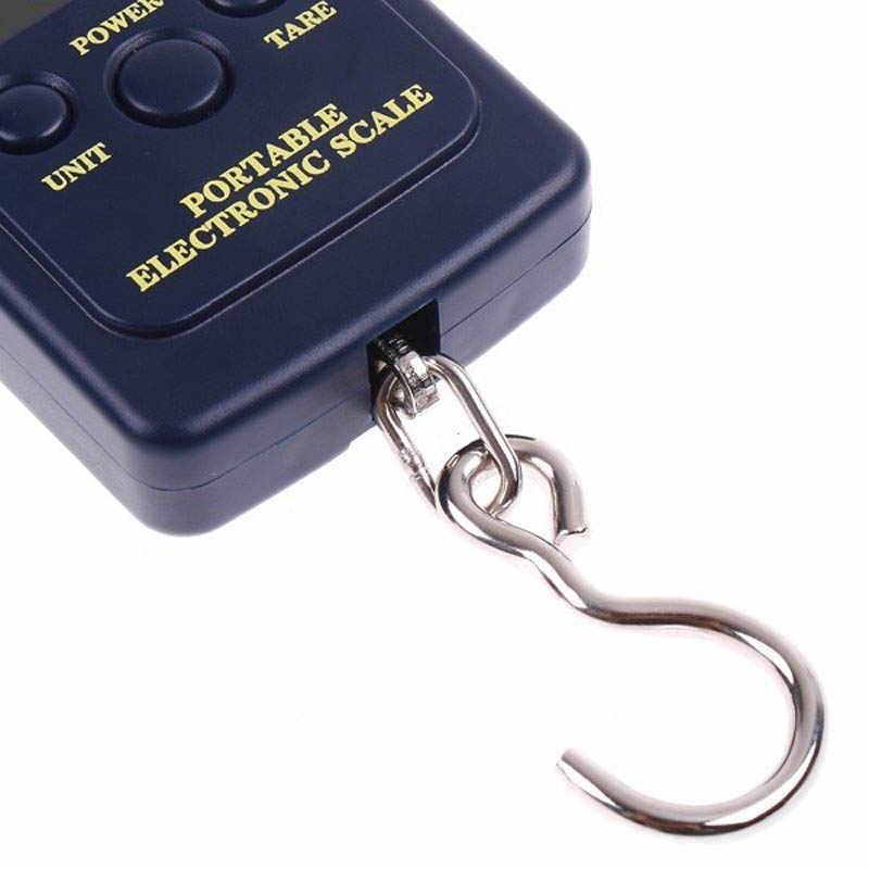 Mini Balance à bagages 40 kg/88lb Balance Portable pèse valise sac électronique numérique pêche crochet suspendu Balance Steelyard
