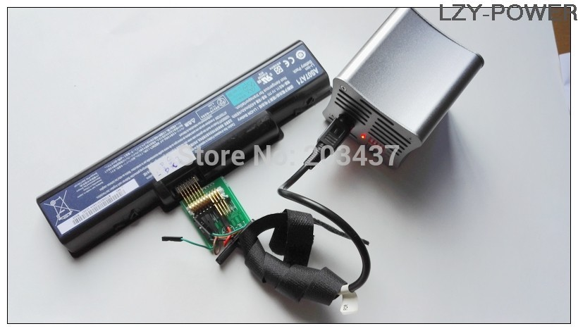 External Laptop Notebook Battery discharger discharging load & 2 universal connecting wires connectors (no charging)