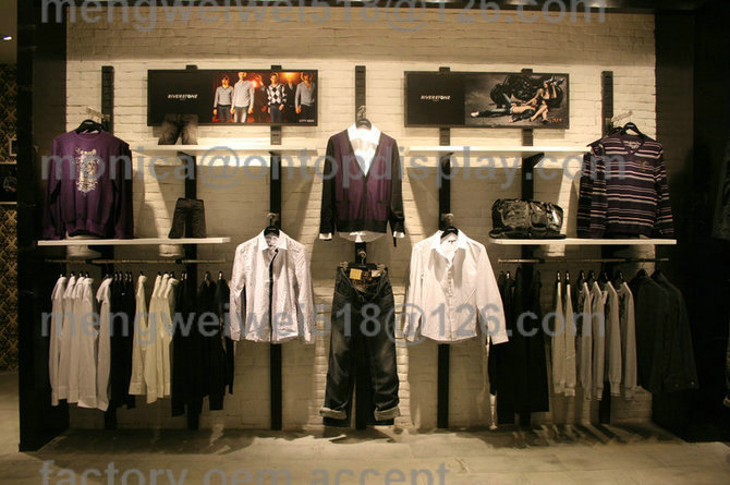 Men Clothing Department Store Display Ladies Shoes Garment