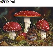 DIAPAI Diamond Painting 5D DIY 100% Full Square/Round Drill Mushroom hamster Embroidery Cross Stitch 3D Decor A24648