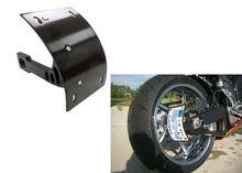 Motorcycle Parts Black Swingarm Side Mount Curve License Plate Bracket for Honda VTC1000 RC51 CBR954RR CBR929RR CBR900RR