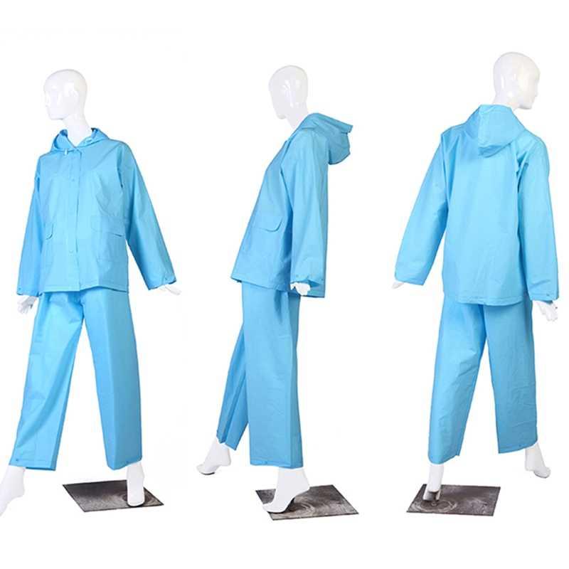Новый модный раздельный плащ для езды на мотоцикле, электромобиле, дождевик, непромокаемые штаны, раздельное пончо, Eva цвет, прозрачный костюм
