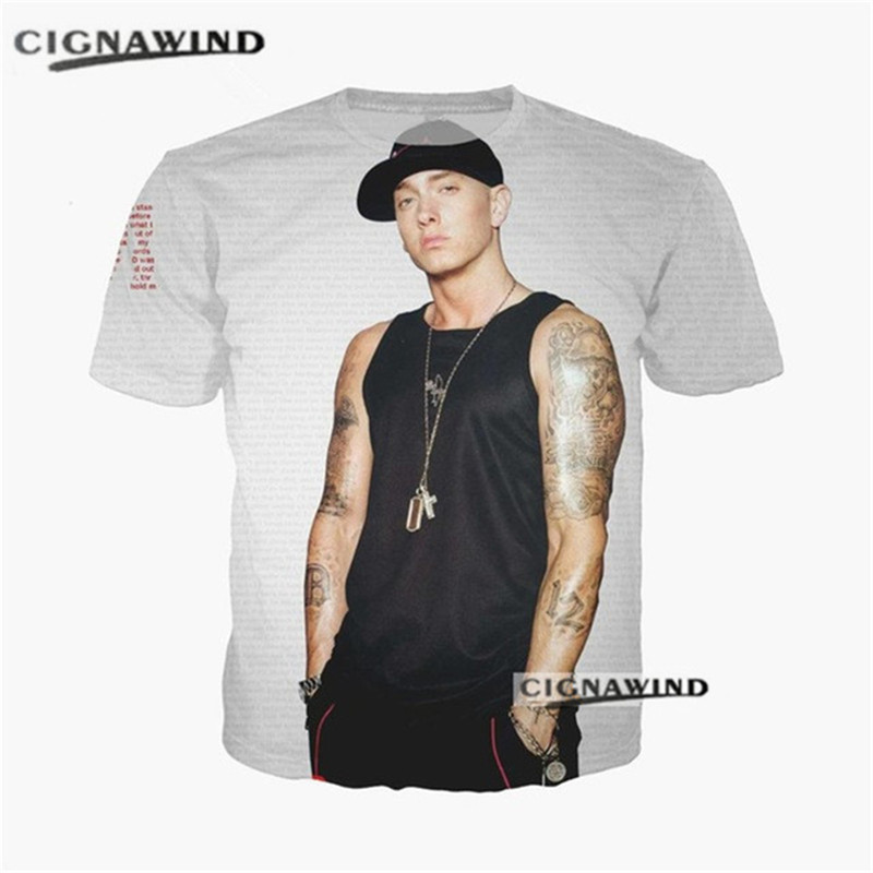 080f6d946ea New fashion t shirt men women Eminem RAP SLIM SHADY MUSIC 3D printed funny  t-shirts casual hip hop style tshirt summer top tees