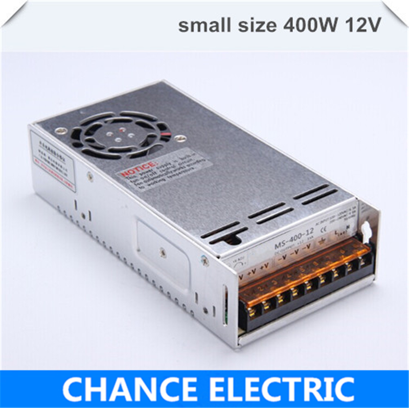 single output smaller volume LED Switching mode Power Supply mini size MS series 400W 12V 33A (MS-400W-12V) single output smaller volume led switching mode power supply mini size ms series 400w 12v 33a ms 400w 12v