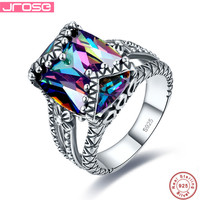 Jrose Party Gift AAA Multi Color Cubic Zirconia Trendy Real Pure 100 925 Sterling Silver Women