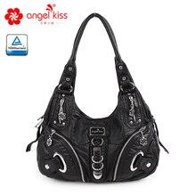 Angelkiss новая женская сумка-хобо из искусственной кожи высокого качества, дизайн, женские большие сумки на плечо для отдыха, повседневные сумки для покупок