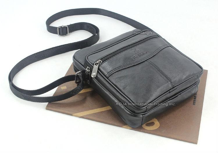 Модная кожаная мужская сумка-мессенджер из натуральной кожи, мужская повседневная сумка через плечо, маленькая сумка черного цвета M014
