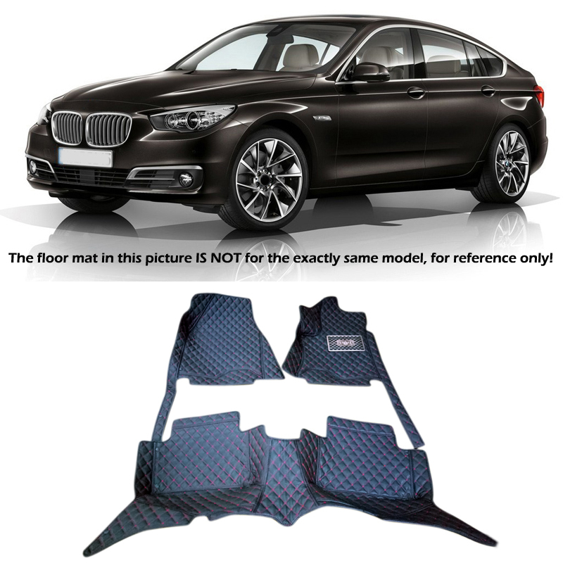 Interior Leather Floor Mats & Carpets 1set Right hand drive For BMW 5 -Series 5GT F07 2010 2011 2012 2013  2014 2015 2016 free shipping leather car floor mat for chevrolet sail 2nd generation 2010 2011 2012 2013 2014 2015 2016