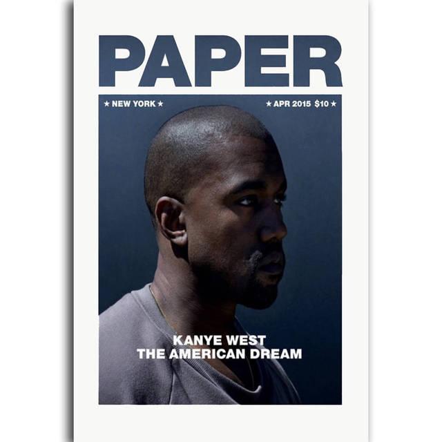g432 new kanye west rap hip hop music magazine cover a4 art poster