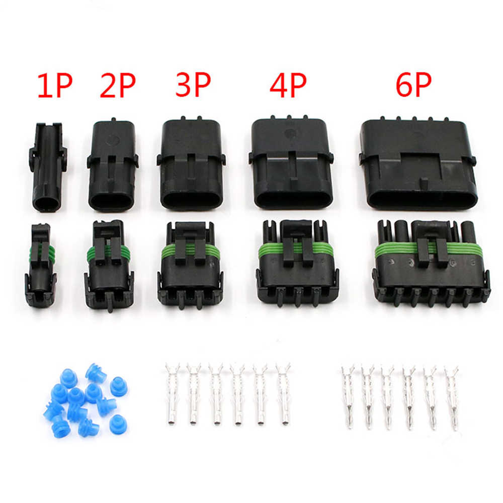 6 Pack 6 Sensor-1 EXT3WP06-6 Extension Cables with Wire Weather-Pack Connectors