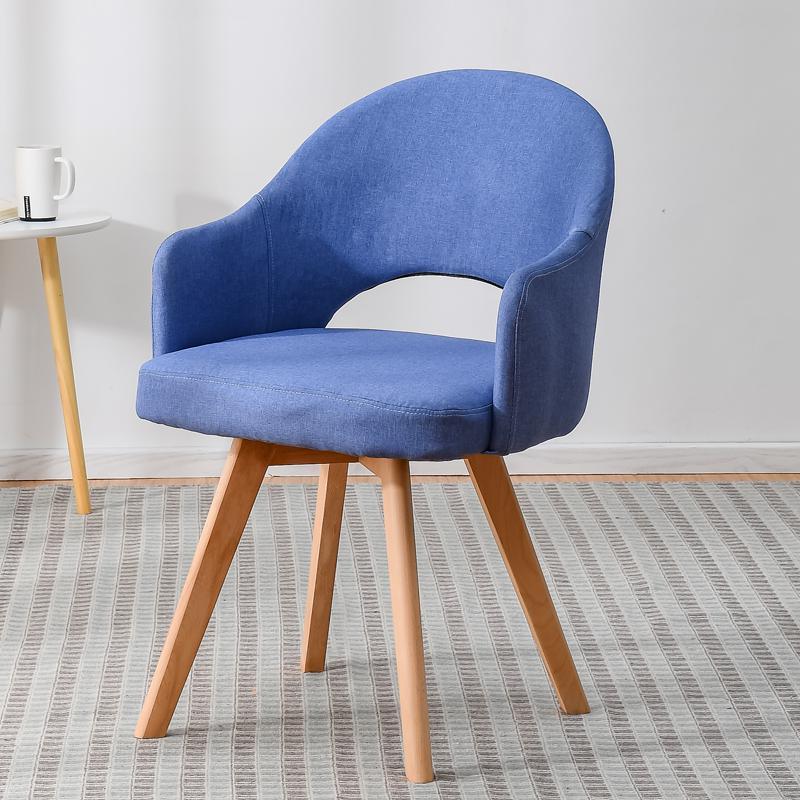 Современный простой стул для ленивых в скандинавском стиле, деревянный стул для ресторана, стул для обучения, простой стол и стул - Цвет: style 15