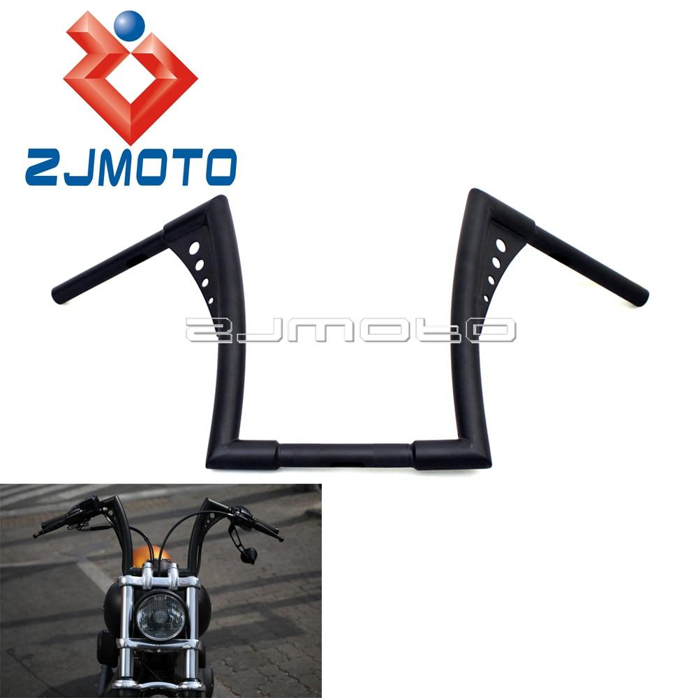 Custom Motorcycle 12 Rise Handlebar For Harley Softail Sportster Hangers Handlebar 1 1 4 Ape Hanger