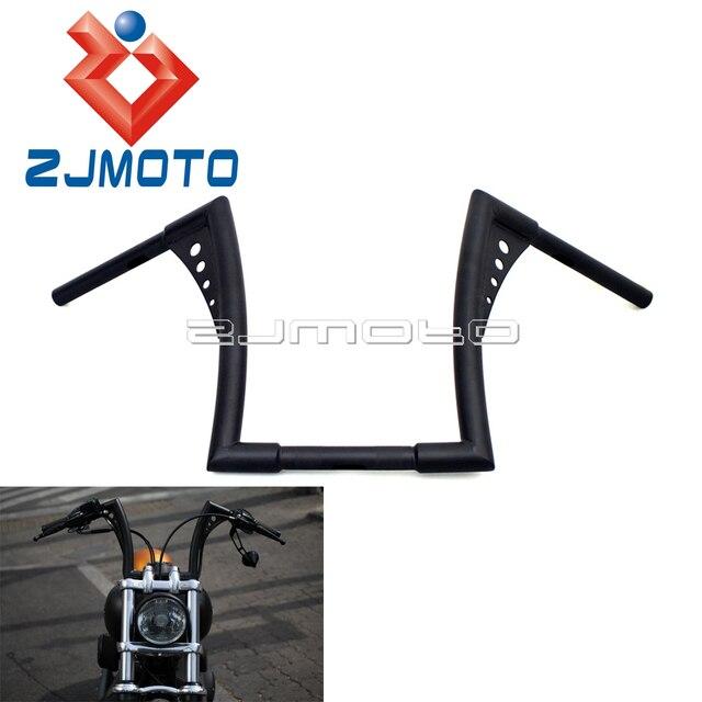 Custom Motorcycle 12 Rise Handlebar For Harley Softail Sportster Hangers 1