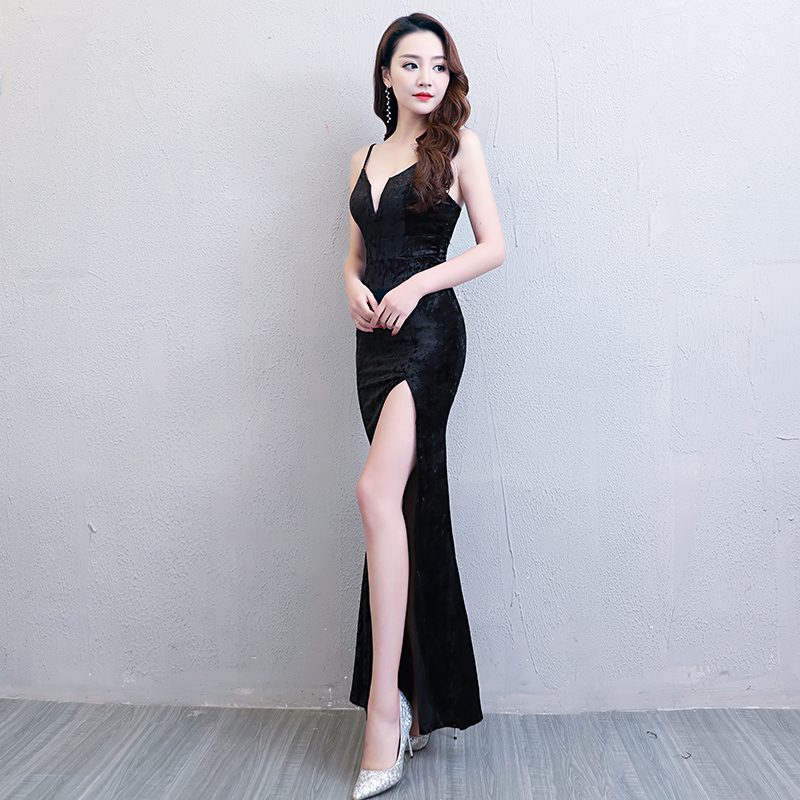 Floor Length Full manual Sexy Star full Prom Evening dresses 2018 Cocktail  dress Night entertainment venue dress 148-in Celebrity-Inspired Dresses  from ... 56b140687eea