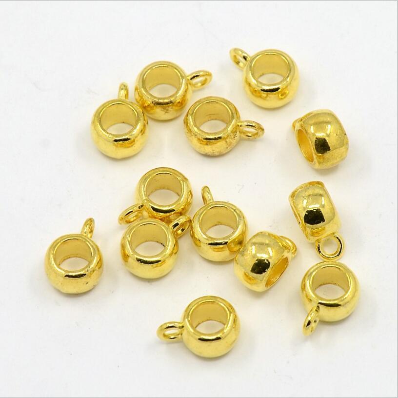 30 pcs Metal Big Hole 4.5mm Spacer Beads Charm Bracelet Conectores Colar Pingente Fechos Clipes Pitada Fianças Para DIY jóias Z914