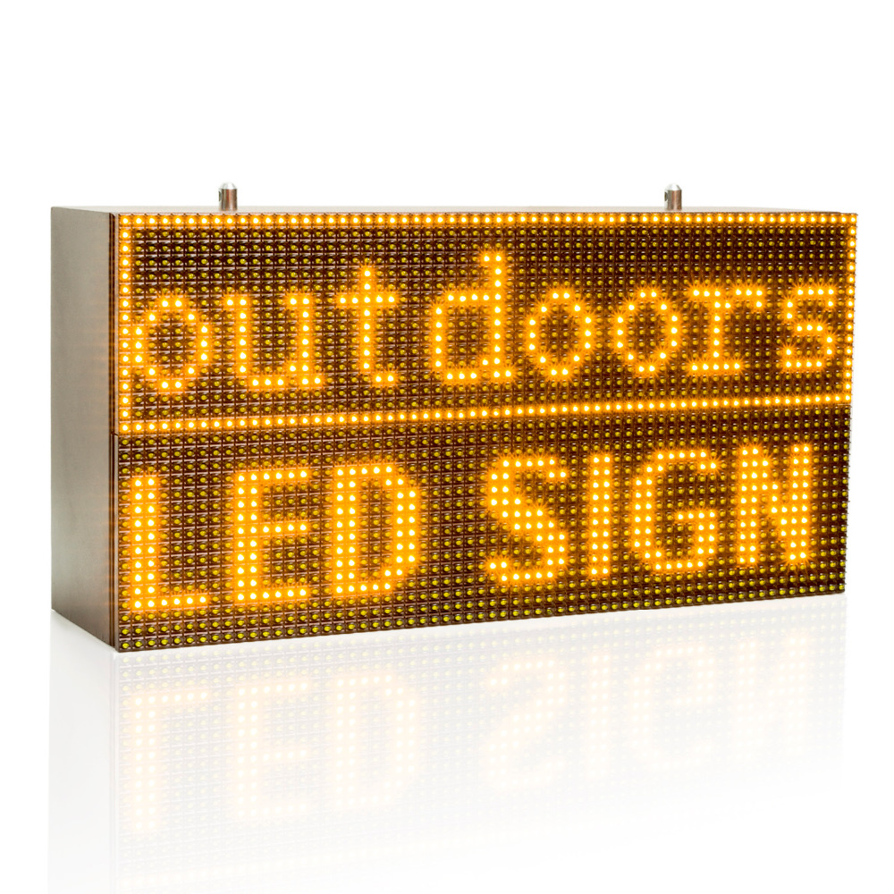 32*64cm Strong Yellow Programmable Led Sign with Scrolling Message Display For P10 FULLY Outdoor Use led display32*64cm Strong Yellow Programmable Led Sign with Scrolling Message Display For P10 FULLY Outdoor Use led display