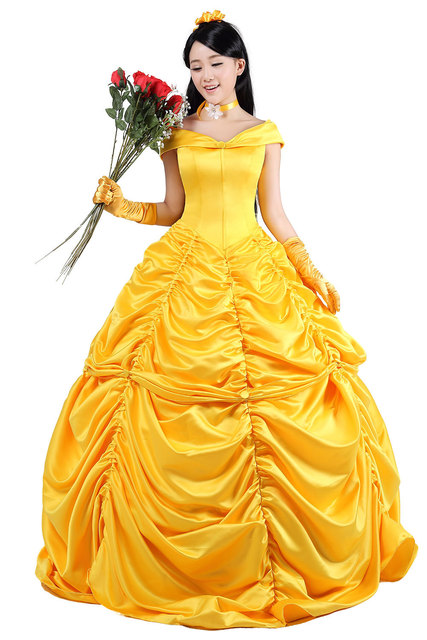 belle costume adult princess belle costume beauty and the beast costume cosplay halloween costumes for women  sc 1 st  AliExpress.com & belle costume adult princess belle costume beauty and the beast ...