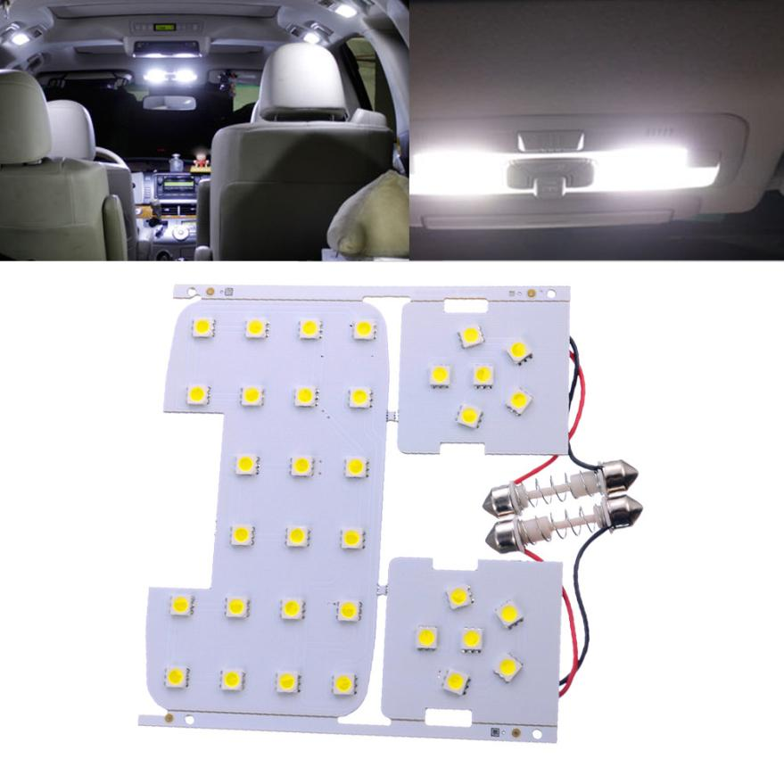 3 Pcs For Kia Rio K2 2006-2012 For Hyundai Solaris Verna Reading Lights Dome Lamps Interior LED White Color Suitable 18Apr6