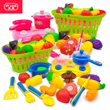 Toys Hobbies - Pretend Play - Play House Kitchen Toys Cut Fruits And Vegetables Set Portable Basket Sound And Light Simulation Vegetable Kitchen Pretend Play