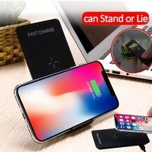 QI Беспроводной Зарядное устройство 10 Вт для IPhone X 8 Samsung Примечание 8 S8 плюс S7 S6 edge быстрая Беспроводной зарядки коврик для док-станции Стенд