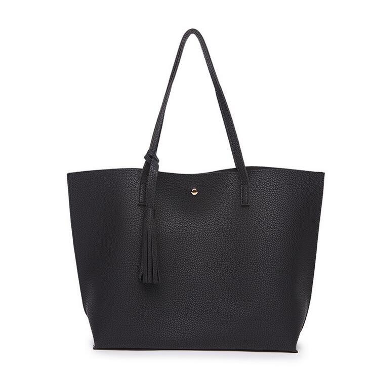 2018 PU Leather Handbags Womens Designer Handbag The Big Womens Tassel Shopping Bag Large Handbags Shoulder Bags Tote bags