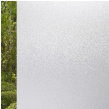60cm x 3m White with plastic window frosted glass sticker bathroom glass foil bathroom opaque office glass paper the window office paper sticker pervious to light do not transparent bathroom window shading white frosted glass tint