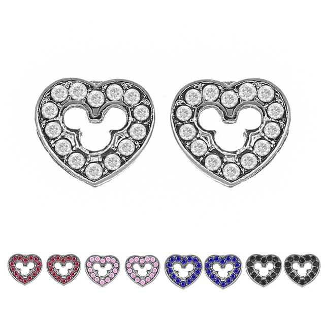 CHIELOYS Antique Sliver Plated Heart Stud Earrings for Women Everyday  Jewelry Gift Mickey Heart Crystal Pandora Earrings Mix
