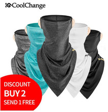 цена на CoolChange Cycling Scarf Bandana Outdoor Sports Bicycle Triangle Bandana Headband MTB Ride Bike Equipment Face Mask Headwear