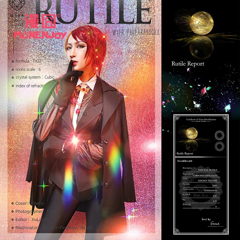 [STOCK] 2018 Hot New Anime Land of the Lustrous Doctor Rutil Daily Colth Uniform Cosplay Costume For Halloween Free Shipping.