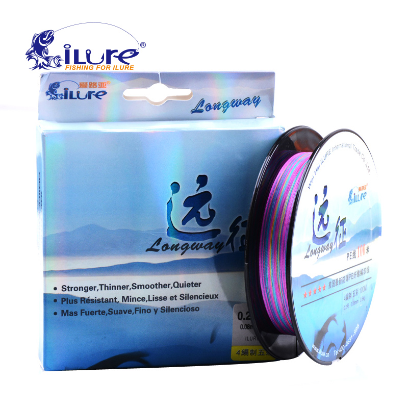 iLure Brand 100 M Fishing Line 4 Strands Super Strong Japan Multifilament PE Braided Fishing Line 8 10 20 30 40 60LB Pesca