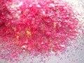 Прекрасный Розовый пыли радужные Белые Хлопья блеск Смесь для Лак Для Ногтей, Делая G522