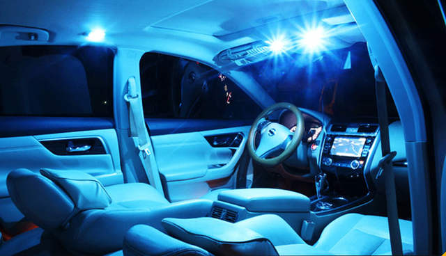 Placeholder 12pcs Ice Blue Led Package Kit Bulbs Car Interior Lights For 2004 2008 Acura Tl